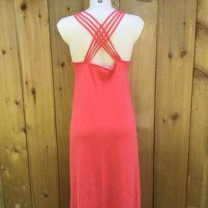 Roxy coral Maxi dress size medium